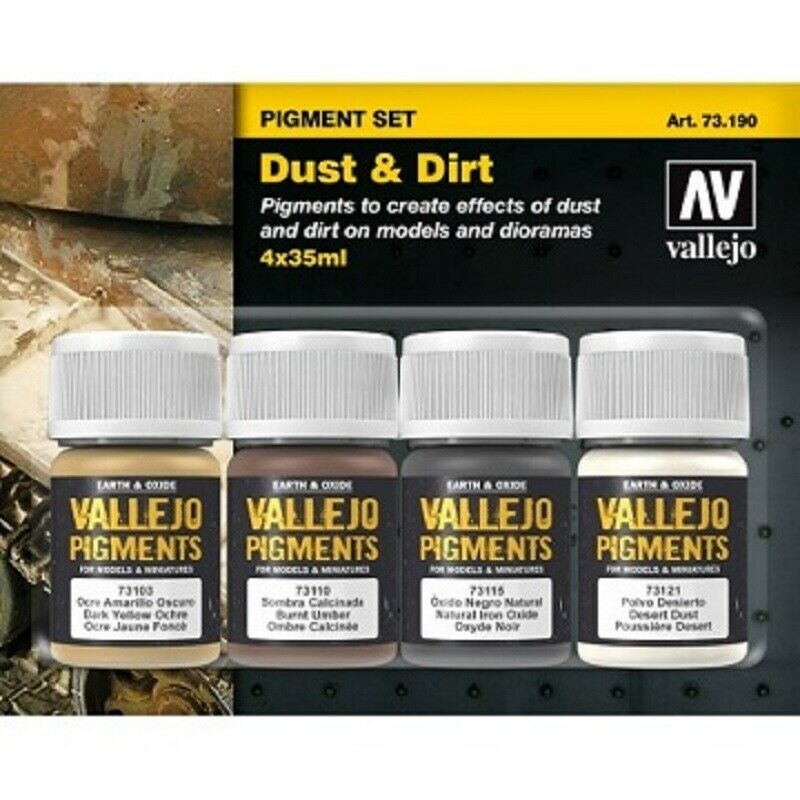 Vallejo Pigment Set Dust and Dirt New - TISTA MINIS