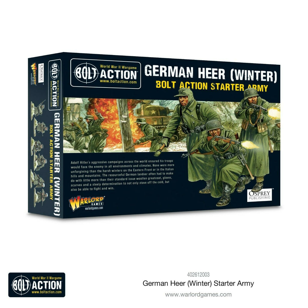 Bolt Action German Heer Winter Starter Army New
