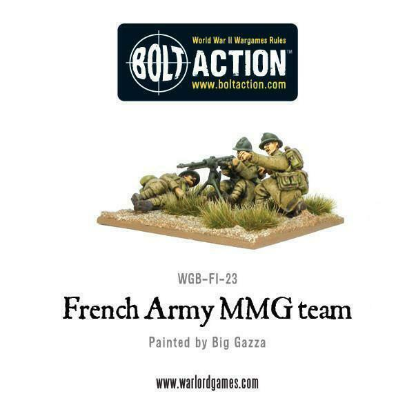 Bolt Action Early War French MMG Team New
