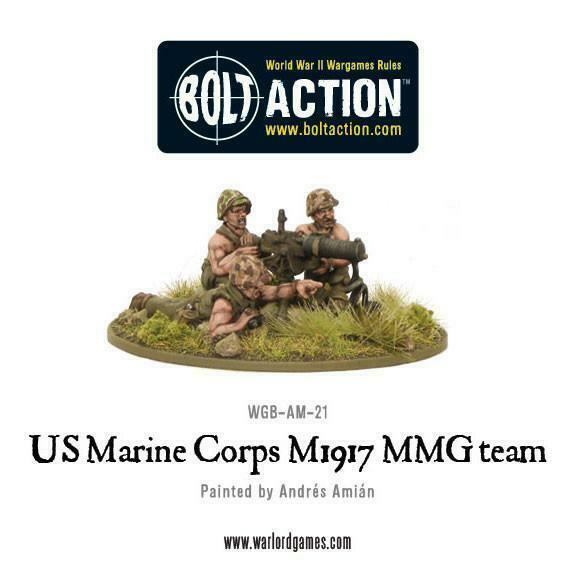 Bolt Action United States Marine Corps M1917 MMG team New
