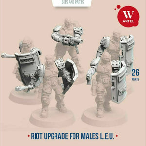 Artel Miniatures - L.E.U. Riot Control Upgrade Kit for Males New - TISTA MINIS