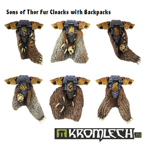 Kromlech Sons of Thor Fur Cloacks with Backpacks New
