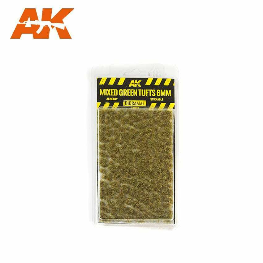 AK Interactive Mixed Green Tufts 6mm New