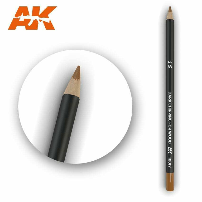AK Interactive Watercolor Pencil Dark Chipping New - TISTA MINIS