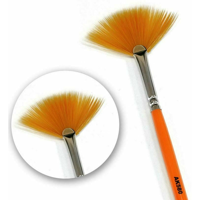 AK Interactive Weathering Brush Fan Shape New