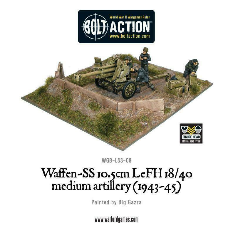 Bolt Action Waffen SS 105mm Gun New