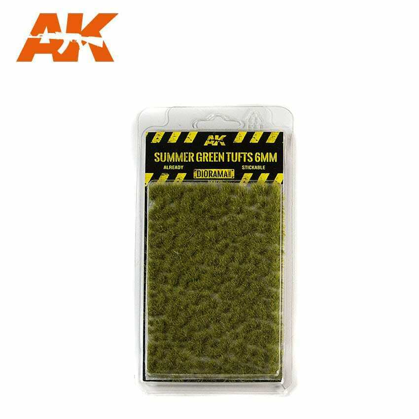 AK Interactive Summer Green Tufts 6mm New