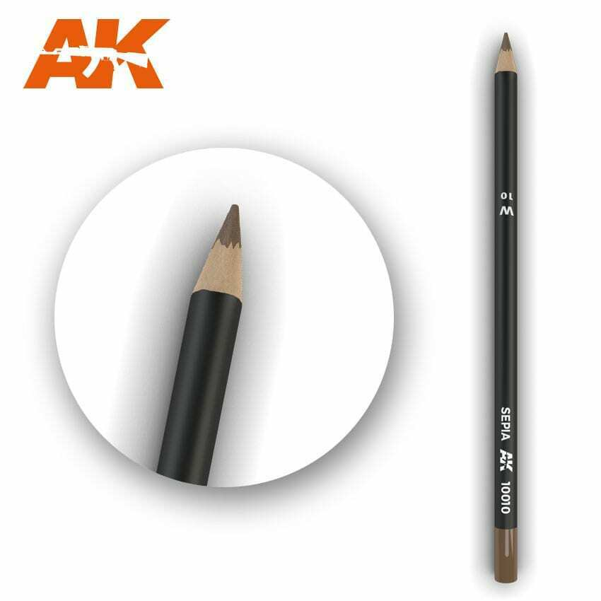 AK Interactive Watercolor Pencil Sepia New - TISTA MINIS
