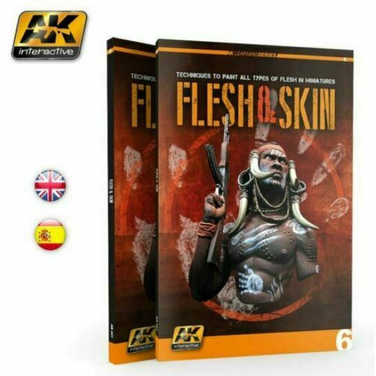 AK Interactive FLESH AND SKIN (AK LEARNING SERIES No6) English New - TISTA MINIS