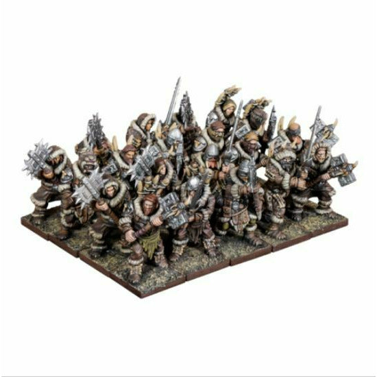 Kings of War - Northern Alliance Clansmen Regiment w/ Two Handed Weapons New