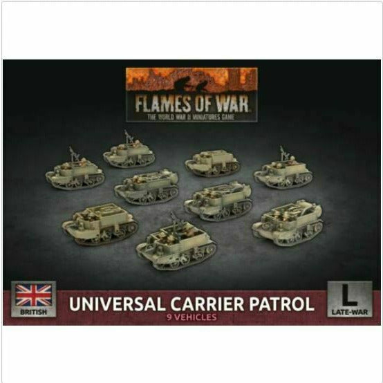 Flames of War British Universal Carrier Patrol New - TISTA MINIS