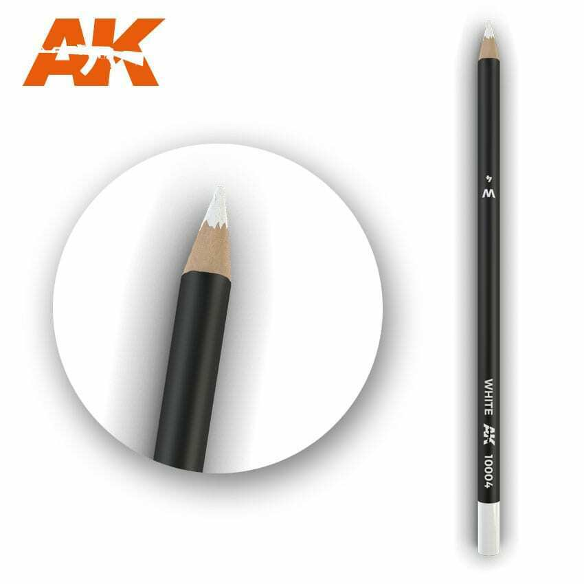 AK Interactive Watercolor Pencil White New - TISTA MINIS