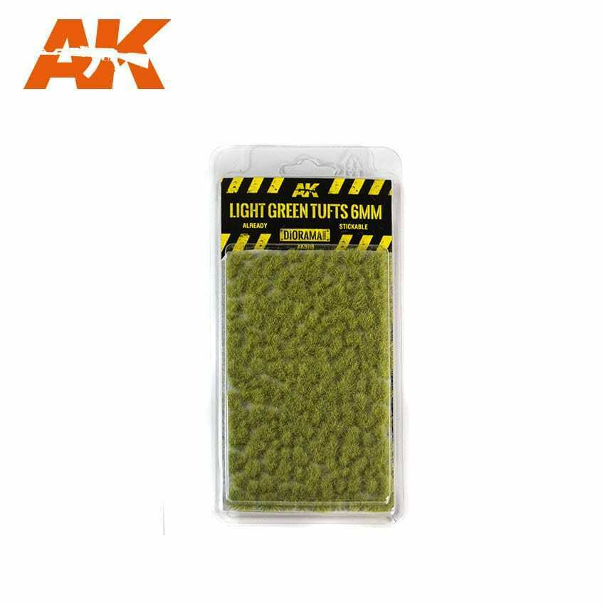 AK Interactive Light Green Tufts 6mm New