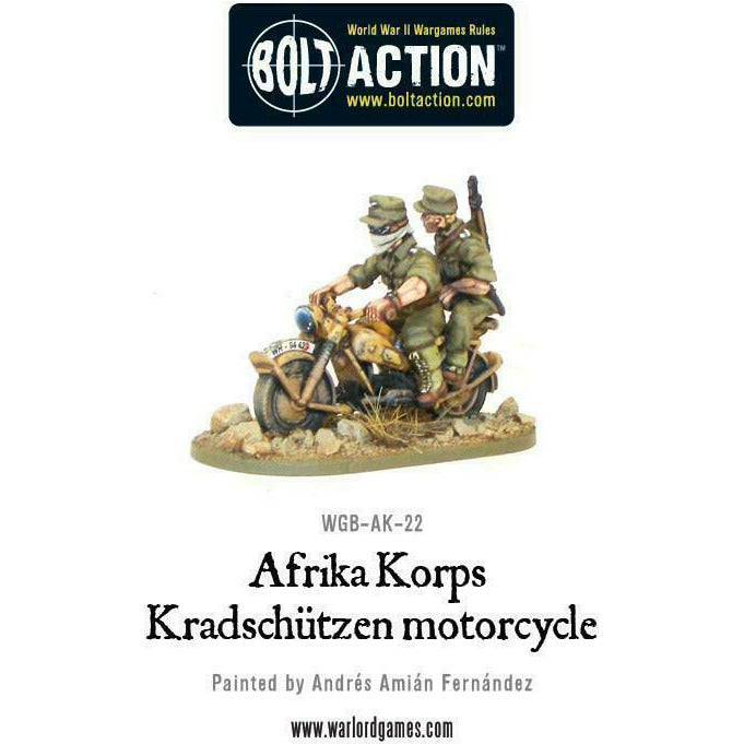 Bolt Action Afrika Korps Kradschutzen Motorcycle New