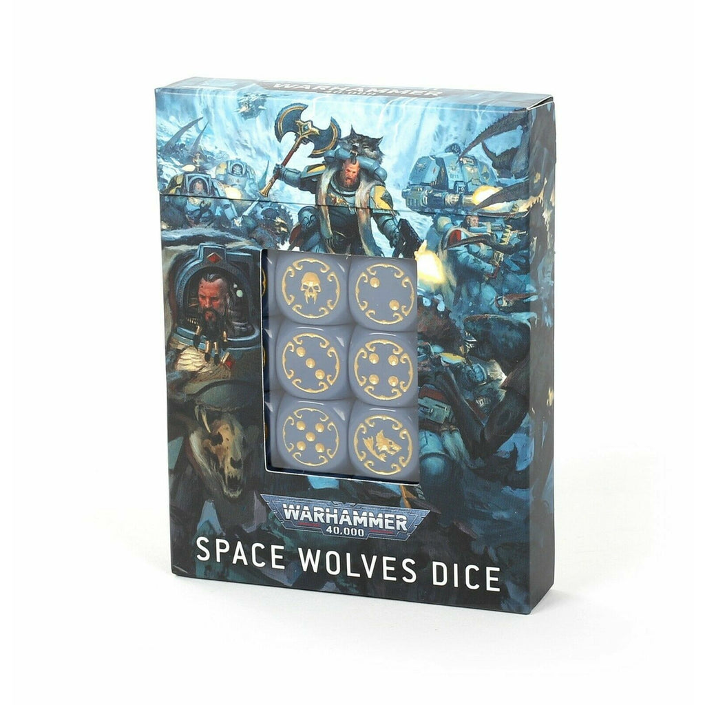 Warhammer SPACE WOLVES DICE SET New