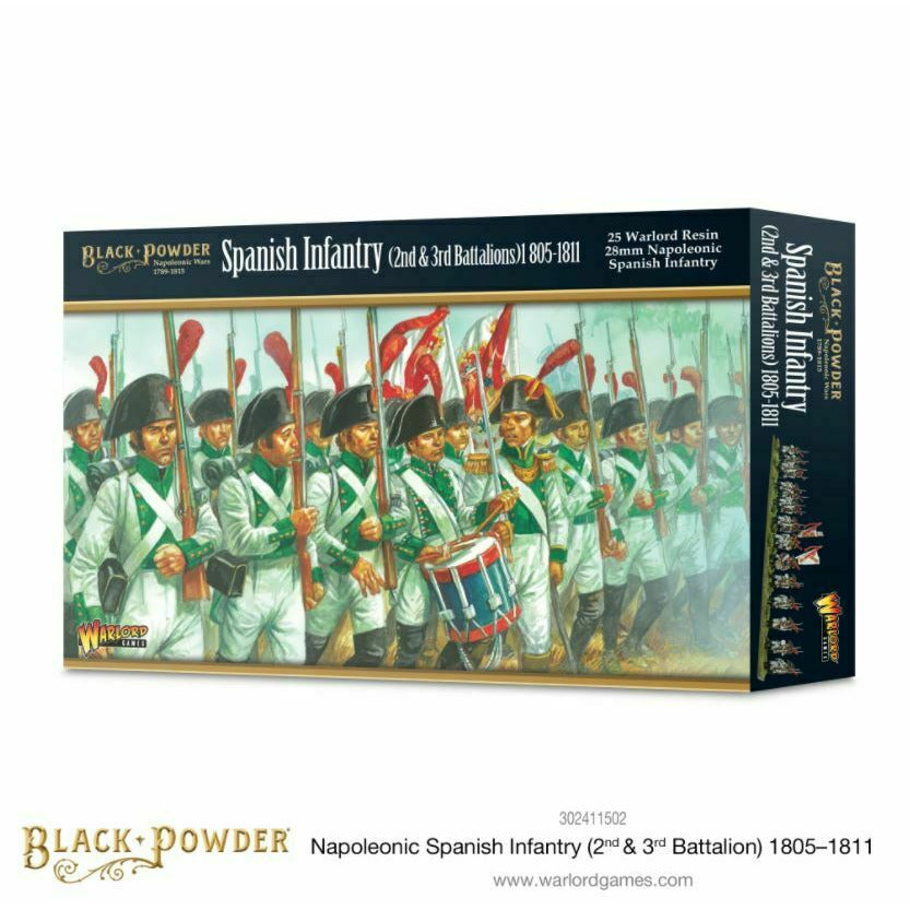 Black Powder - Spanish Infantry (2nd & 3rd Battalions) 1805-1811 New