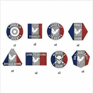 Team Yankee French Token Set New