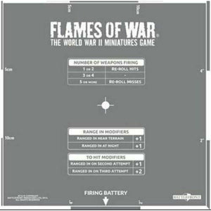 Flames of War Artillery Template New