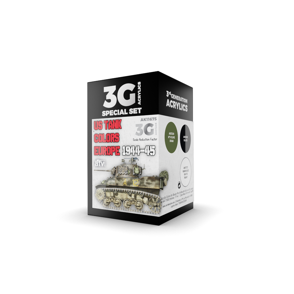 AK Interactive 3G US Tank Colors Europe 1944-45 New - Tistaminis