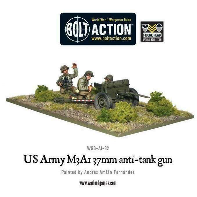 Bolt Action US Army M3A1 37mm Anti-Tank Gun New