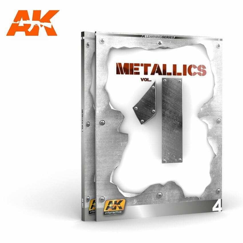 AK Interactive METALLICS VOL 1 (AK LEARNING SERIES No 4) New - TISTA MINIS