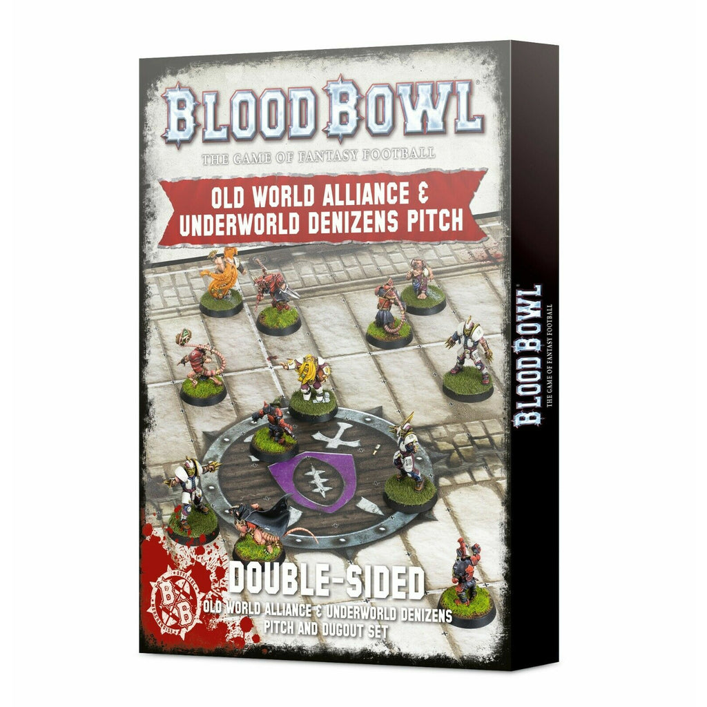 Warhammer BLOOD BOWL: OLD WORLD + UNDERWORLD PITCH New