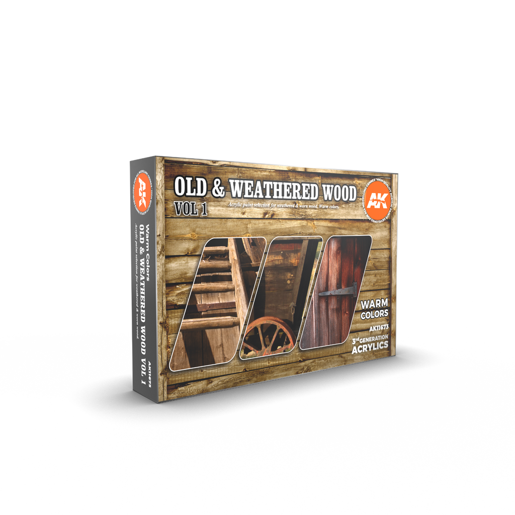 AK Interactive 3G Old & Weathered Wood Vol 1 New - Tistaminis