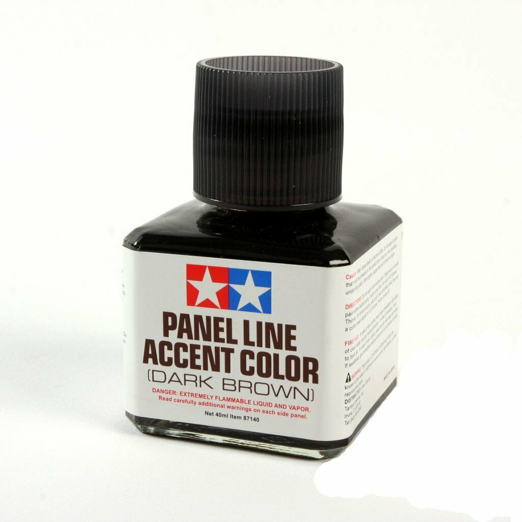 Tamiya TAM87140 PANEL ACCENT COLOR - DARK BROWN (40ML) New