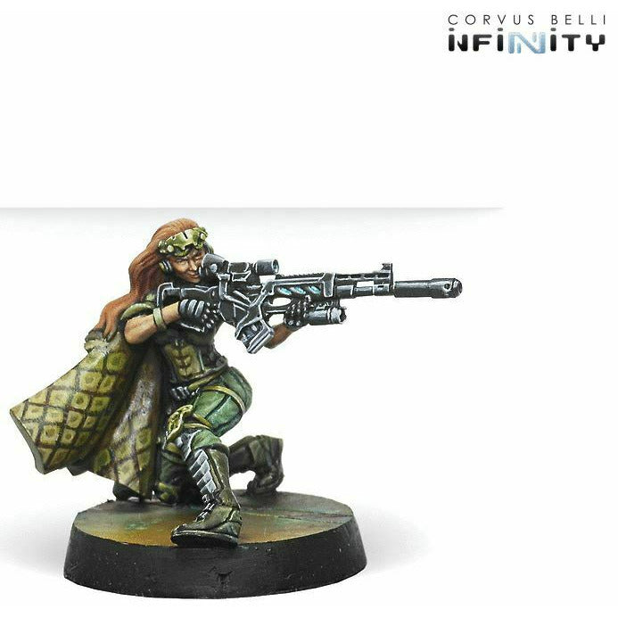 Infinity: Non-Aligned Armies Major Lunah, Ex-Aristeia! Sniper (Viral Sniper) New - TISTA MINIS