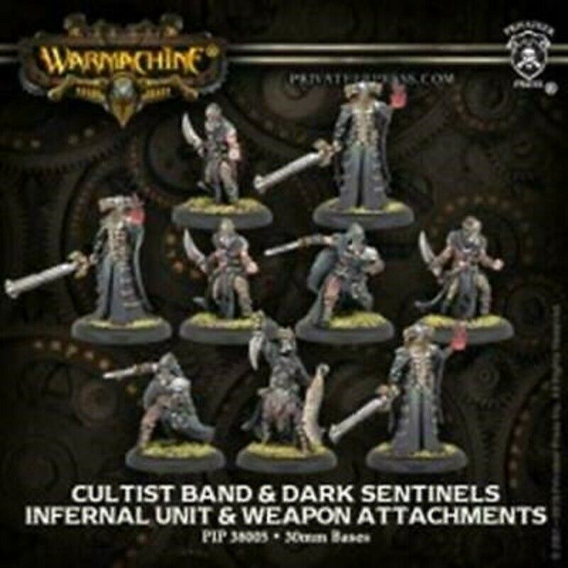 Warmachine Infernals Cultist Band & Dark Sentinels NEW