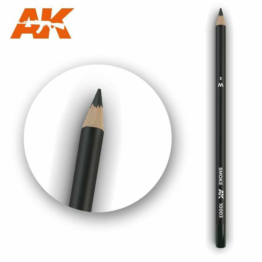 AK Interactive Watercolor Pencil Smoke New - TISTA MINIS