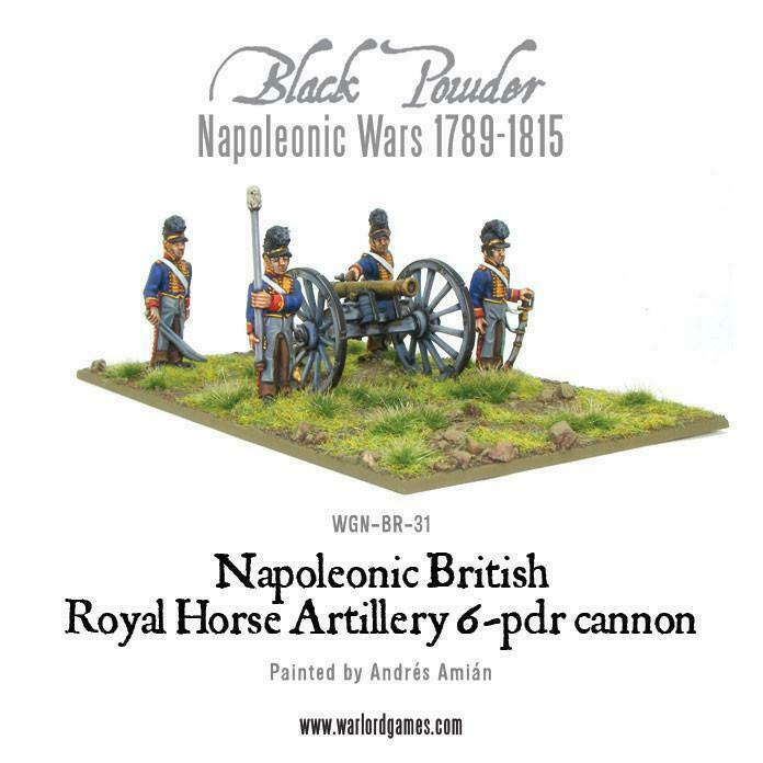 Black Powder British Royal Horse Artillery 6 pdr Cannon New