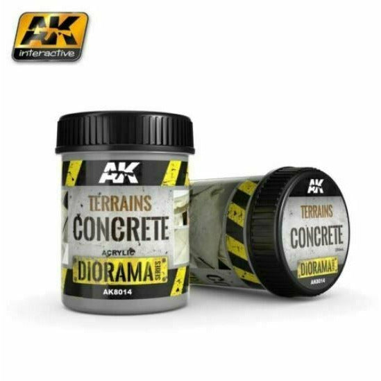 AK Interactive Terrains Concrete 250ml New