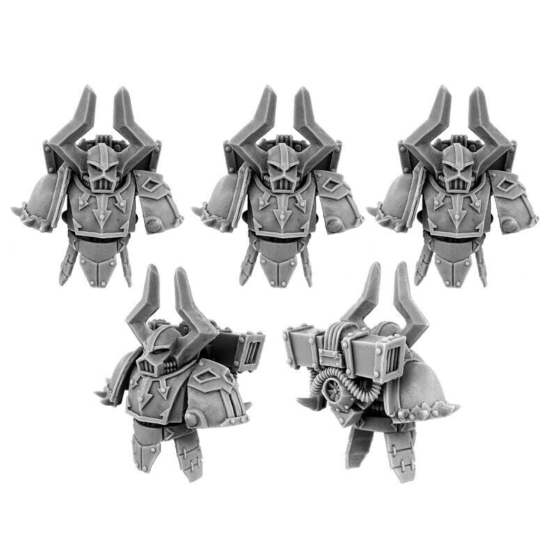 Wargames Exclusive - CHAOS WARRIORS HADUR PATTERN CONVERSION SET (5U) New - TISTA MINIS