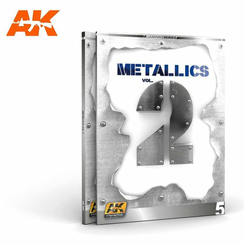 AK Interactive METALLICS VOL 2 (AK LEARNING SERIES No 5) New - TISTA MINIS
