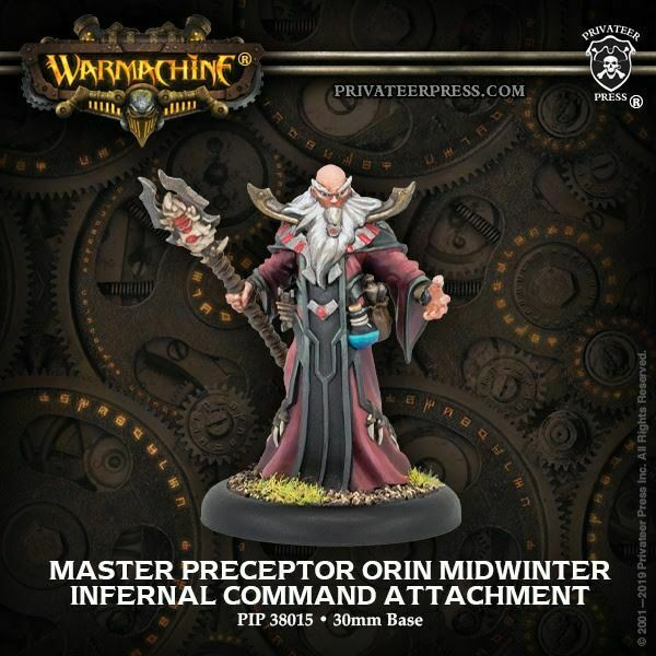 Warmachine Infernals Master Preceptor Orin Midwinter NEW