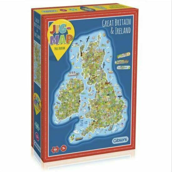 Jig-Map - Great Britain & Ireland Puzzle New