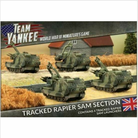 Flames of War Team Yankee Tracked Rapier SAM Section New