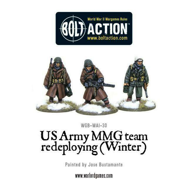 Bolt Action US Army Forward Observer Team (Winter) New