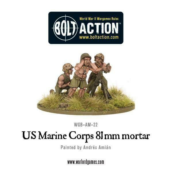 Bolt Action United States Marine Corps 81mm mortar New