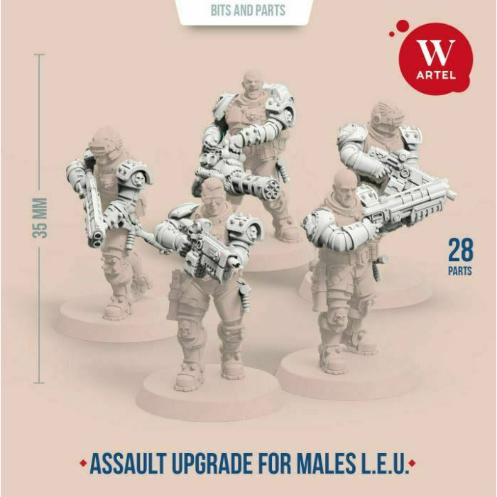 Artel Miniatures - L.E.U. Assault Upgrade Kit for Males New