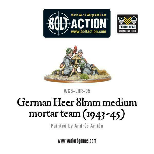 Bolt Action German Heer 81mm medium mortar team (1943-45) New