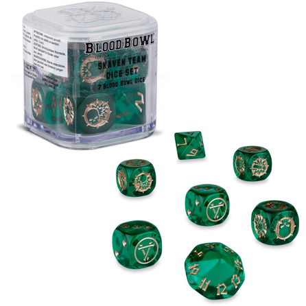 Warhammer Blood Bowl Skaven Team Dice | TISTAMINIS