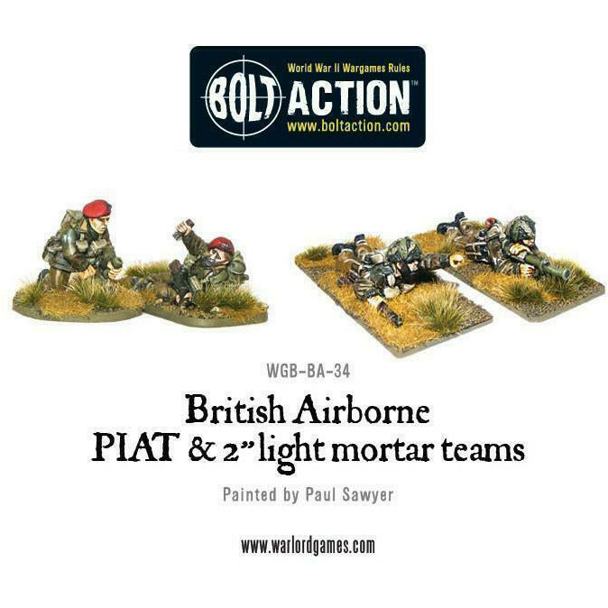 Bolt Action British Airborne Piat & Light Mortar Teams New