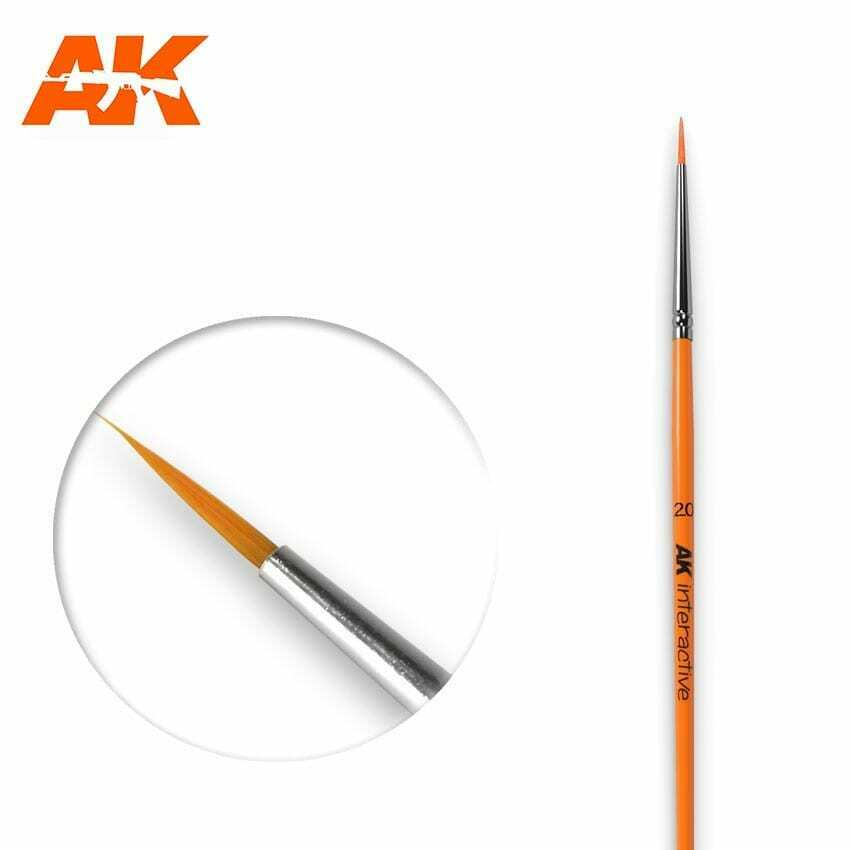 AK Interactive Round Brush 2/0 Synthetic New