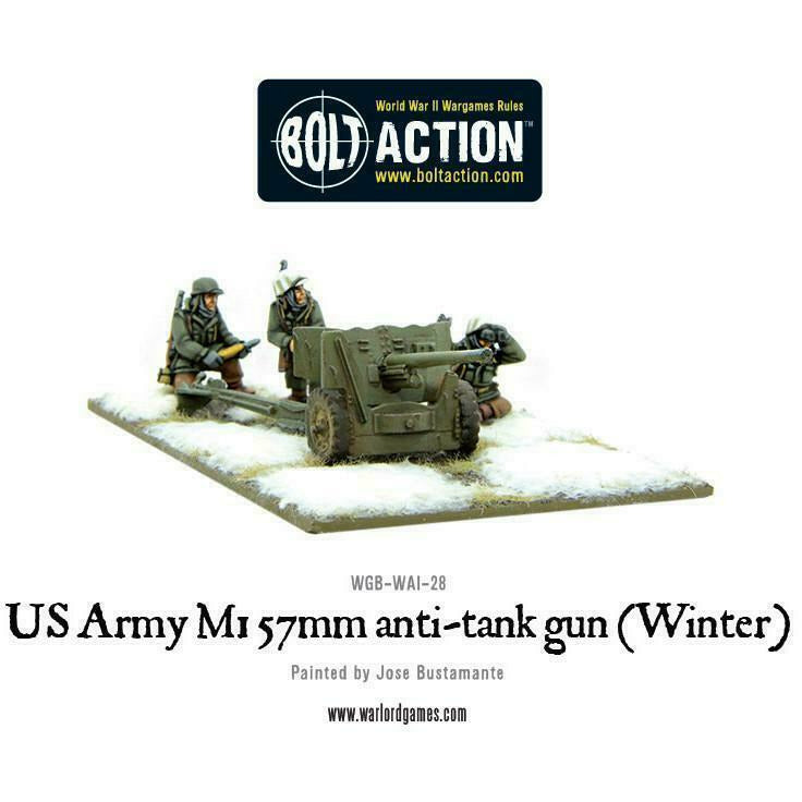 Bolt Action US Army M1 57mm Anti-Tank Gun (Winter) New