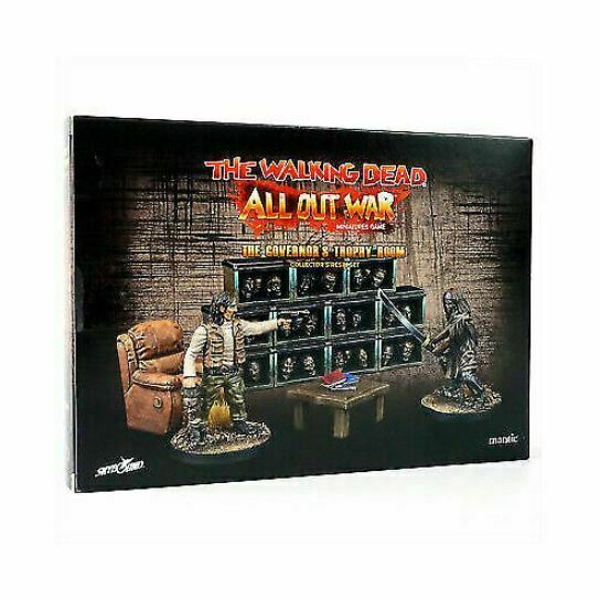The Walking Dead: W5 The Governor's Trophy Room Collector's Resin Set New