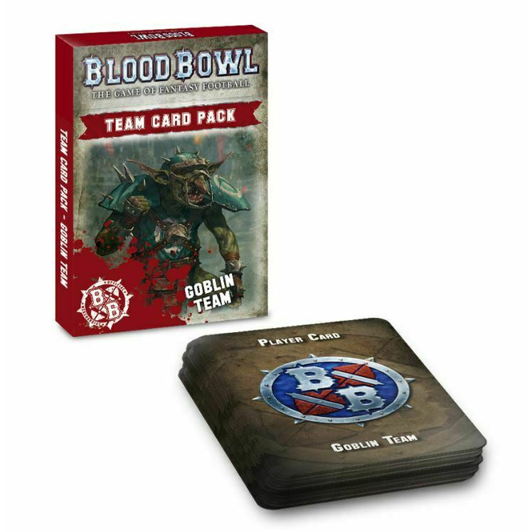 Warhammer BLOOD BOWL GOBLIN TEAM CARD PACK New | TISTAMINIS
