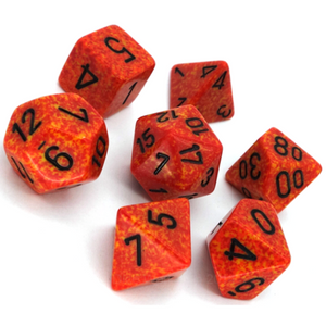 Chessex Speckled Fire 7pc Dice Set CHX25303 New