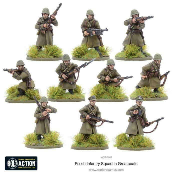 Bolt Action Polish Infantry Squad in Greatcoats New